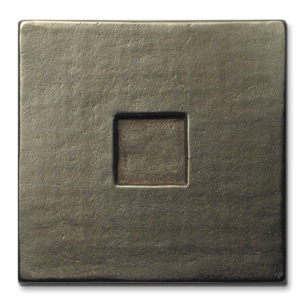 Square 3x3 in White Bronze