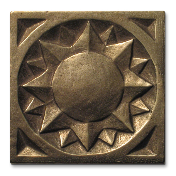 Sun 3x3 inch Traditional Bronze