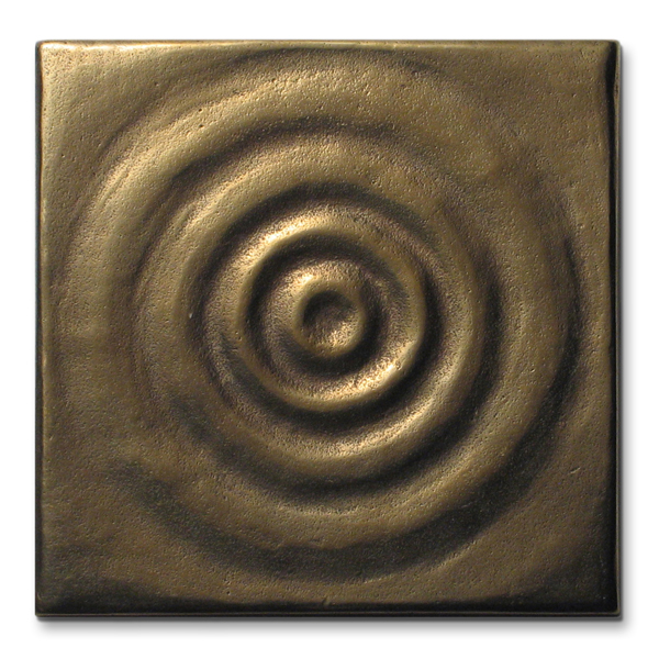 Water 3x3 inch Traditional Bronze