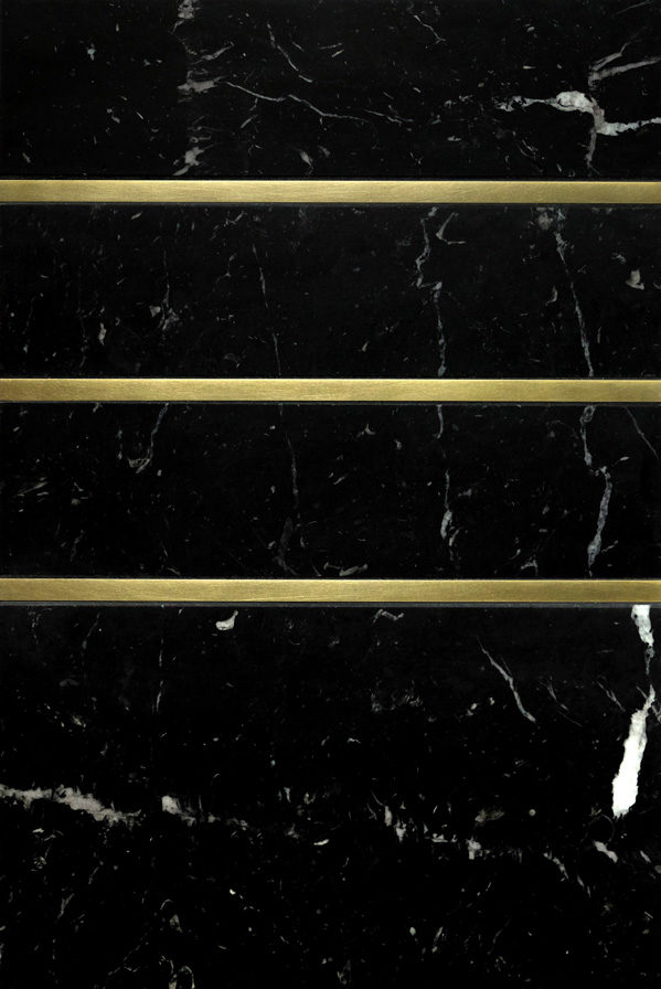 "Living Brass 3/8"" · Black Marble"