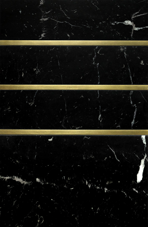 Precision Square Brass liner 3/8 inch with black marble