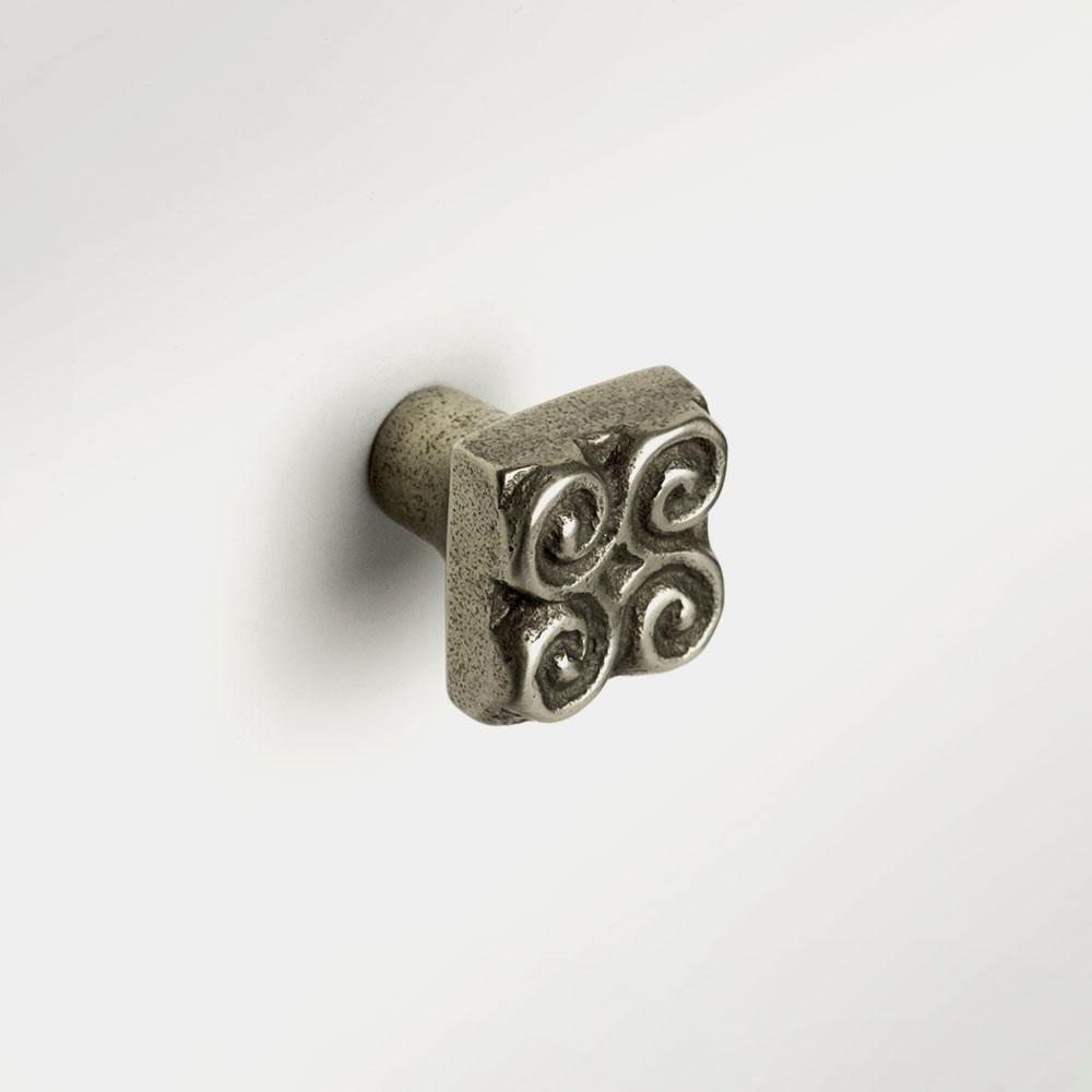 Pinwheel knob 1x1 inch White Bronze