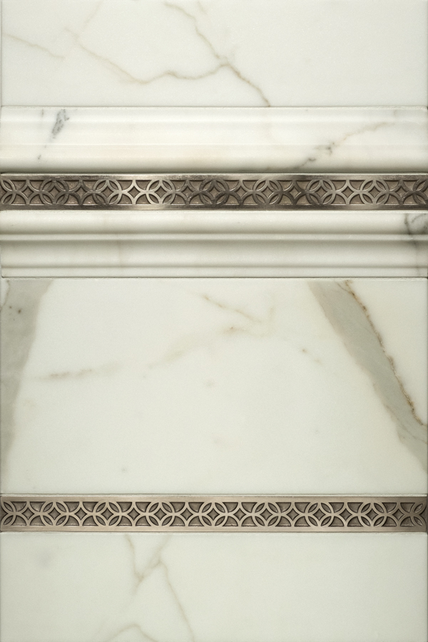 Galileo metal accent liners with white marble