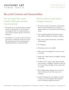 Recycled Content - Sustainability