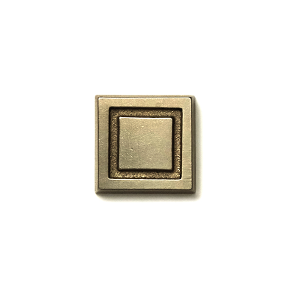Square  1x1 inch inset tile  Traditional Bronze