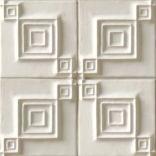 Talisman Tiles Syncopation 6x6 white field pattern
