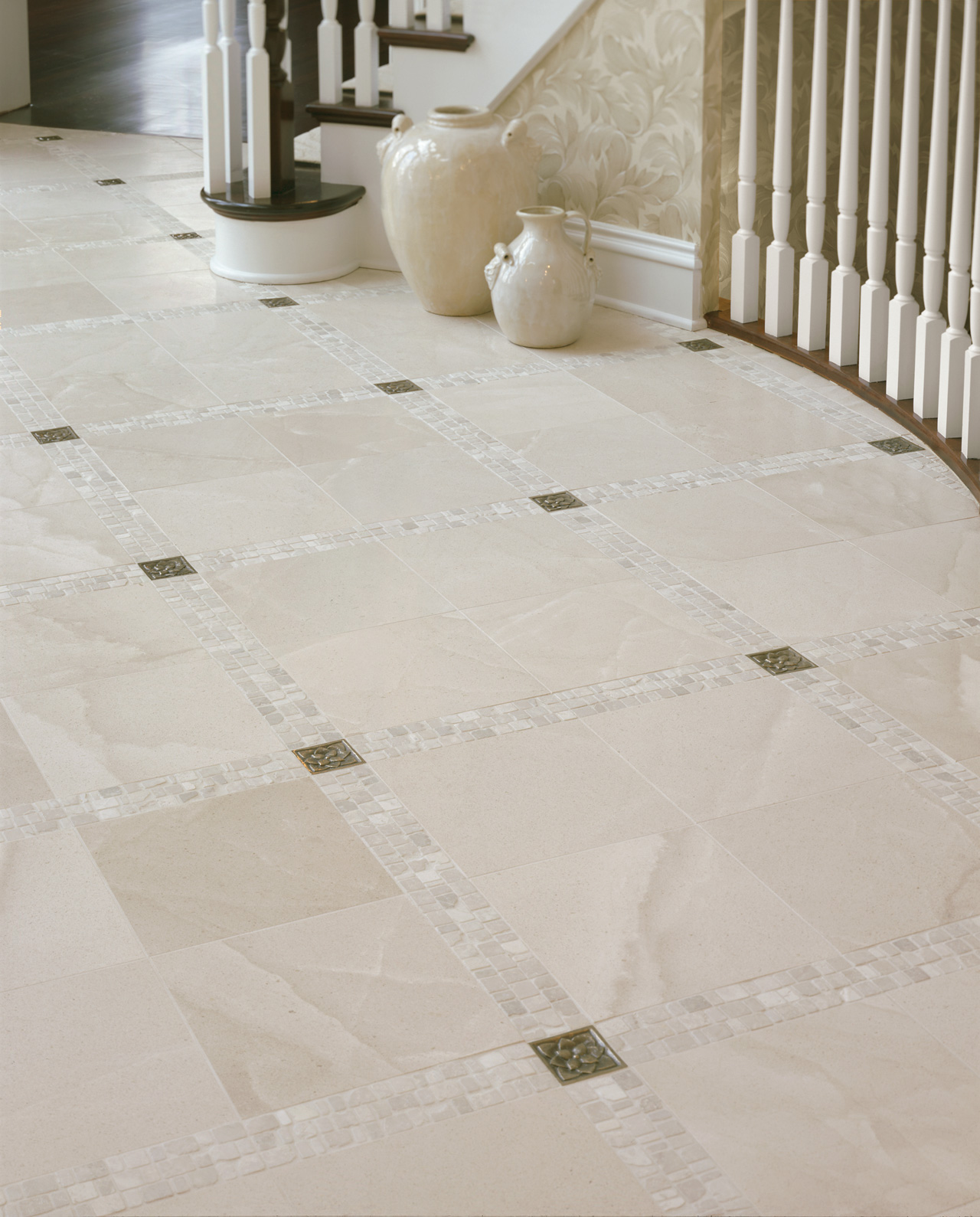 Floor Accents: Metal Accent Tiles - Foundry Art