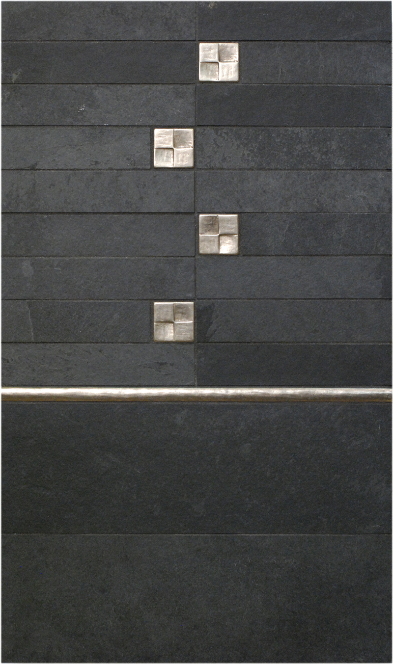 traditional bronze tile accent liner black bathroom