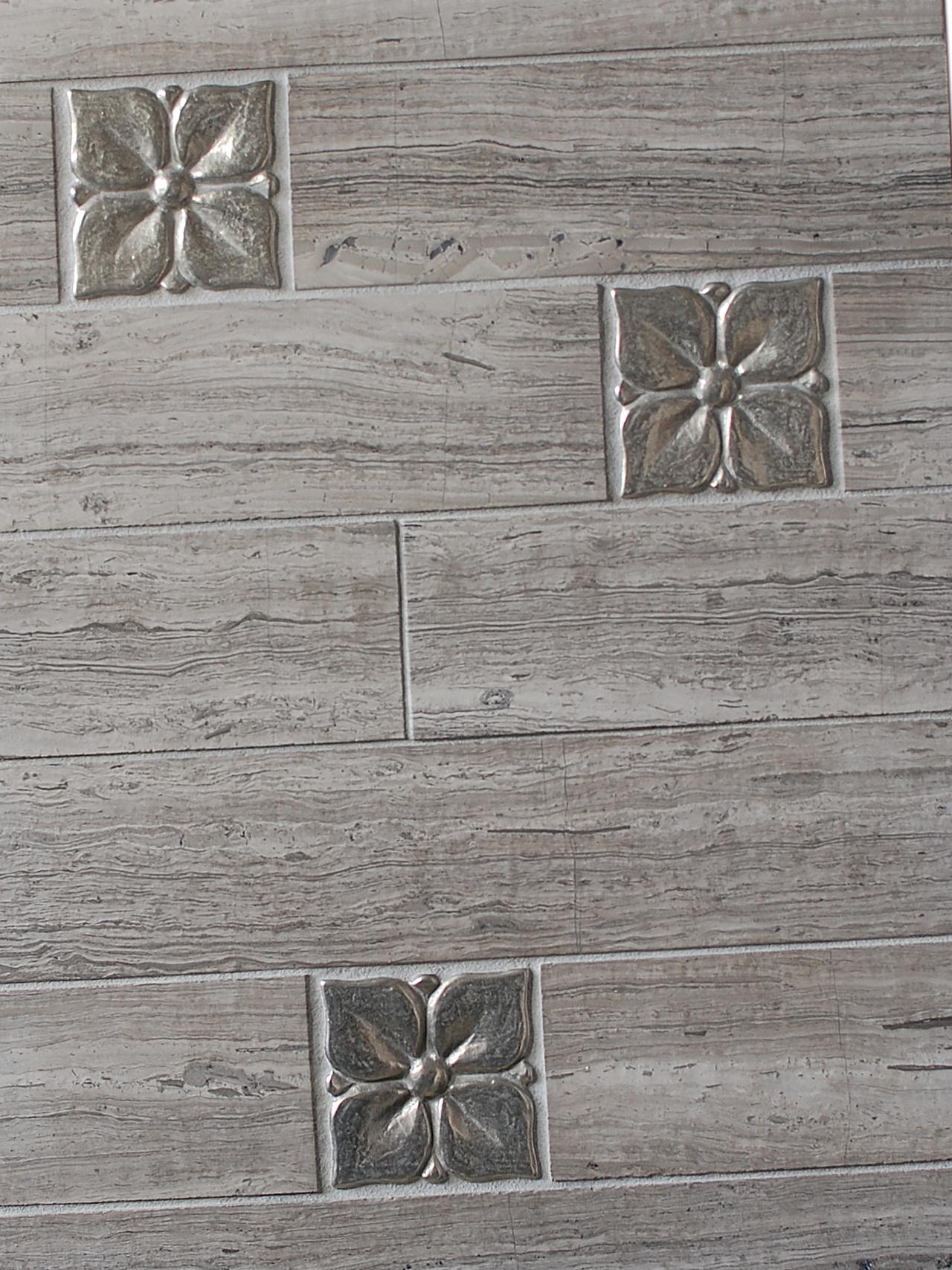 white bronze tile accent wood porcelain floor