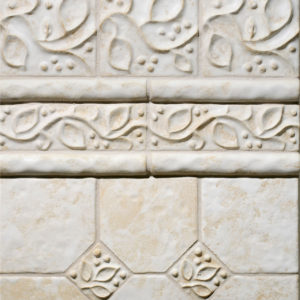 white ceramic tile field border molding bathroom design ideas